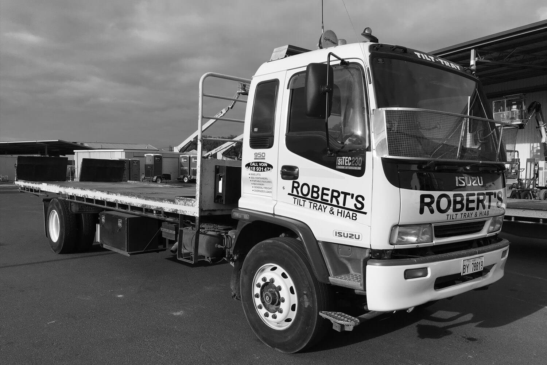 Robert's Tilt Tray & Hiab Services tilt truck