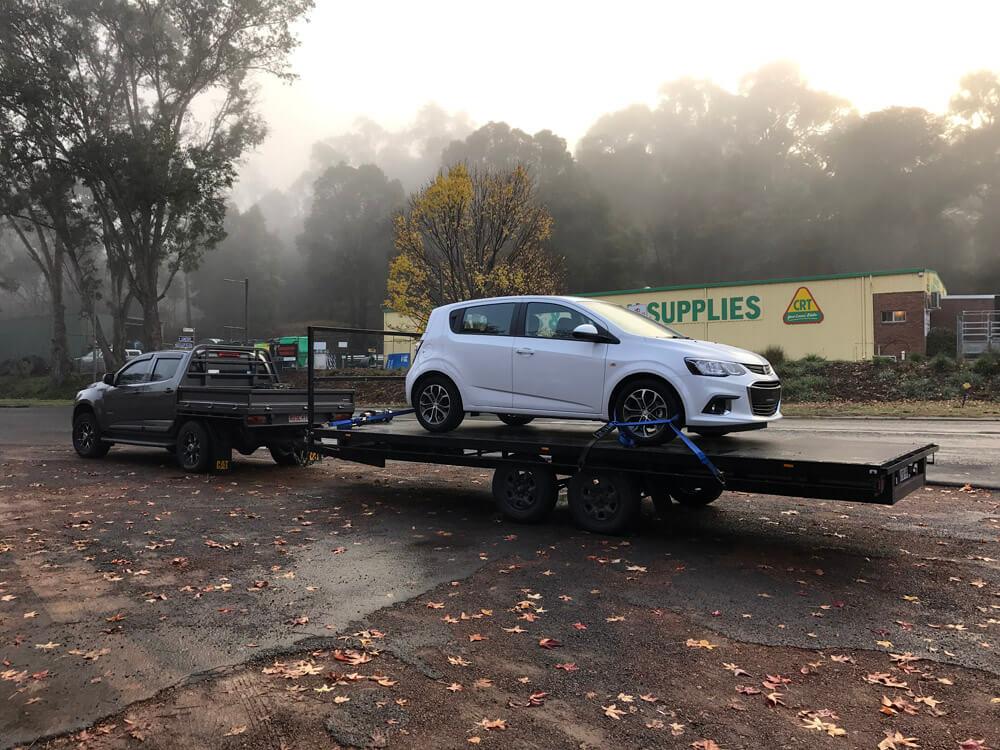 CAR FLAT BED TRAILER