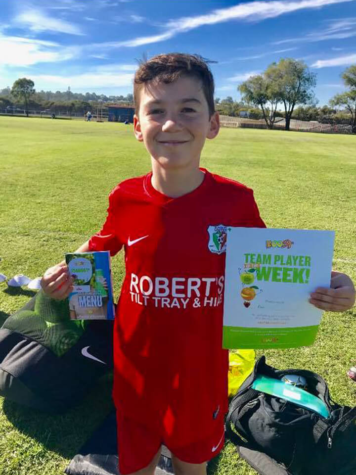 Robert's Team Player of the Week. Proudly sponsored by Robert's Tilt Tray & Hiab Service.